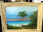 "24x18 ""Palm Tree & Boat""by Al Black"