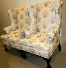 2 Chippendale style wingchairs