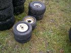 Lot# 392 - (6) SMALL LAWN TRACTOR WHEELS