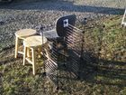Lot# 486 - MISC LOT OF WOOD STOOLS, OFFI