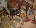 Old Baskets & Spice Cabinet