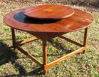 PEGGED LAZY SUSAN YELLOW PINE TABLE