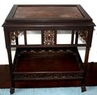 Rosewood carved Victorian table