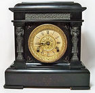 Seth Thomas Black Mantle Clock