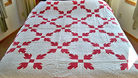 Red & White Hand Quilted