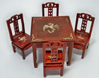 Table/Chairs, MOP Inlay