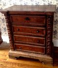 18thC Italian carved 4 draw chest