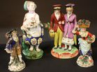 Porcelain figure lot