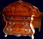 Decorative inlaid nite stands and bed