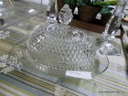 diamond point butter dish