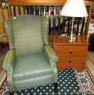 wingback recliner in auction