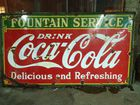 1930's Coca Cola Porc. Sign 4ft. x 8ft.