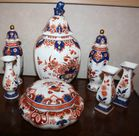 Colored Delft porcelain