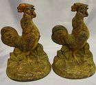 Pair of Rooster bookends