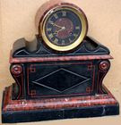 French marble clock inscribed 1858