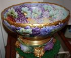 Limoges punch bowl on stand