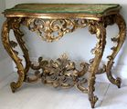 19th C carved gilt console