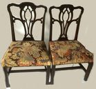 6 Chippendale chairs