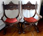 Carved figural directoire chairs