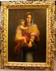 Madonna and child in cvd gilt wood frame
