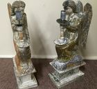 Pr cvd and polychrome angel candlesticks