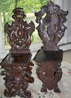 2 figural carved sidechairs