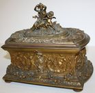 French bronze jewelry casket