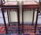 Pair of Asian tables