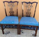 Pr Chinese Chippendale sidechairs