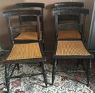 4 Stenciled antq chairs