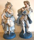 Large pair of figurines
