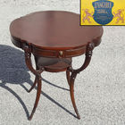 Zangerle Mahogany Leather Top Table
