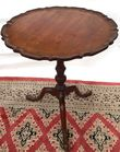 Antique candlestand with padded feet