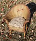 Child's Wicker Chair - Mint