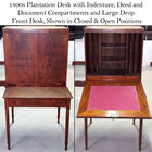 1800s Plantation Desk center lin inlay