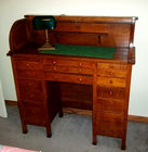 VERY NICE OAK ROLL TOP DESK