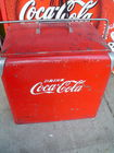 1950's COCA COLA COOLER W/TRAY INSIDE
