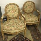Pr. French style armchairs