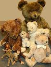 Assortment of Steiff and other vintage