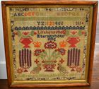 English late Victorian sampler