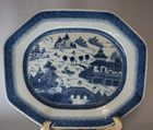 Lot 210: Blue and White Canton platter