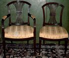 Set of 8 English Regency chairs