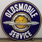 2 sided Porcelain Oldsmobile sign