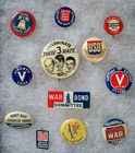 WWI & WWII Pinback Buttons