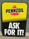 Double Side Pennzoil Sign 24 X 36