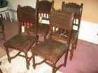 English Leather oak chairs