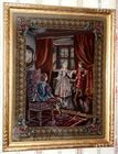 Large needlepoint scene
