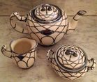 Lenox overlay tea set
