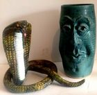 French cobra and A.McCauley vase