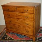 Antique tiger maple chest